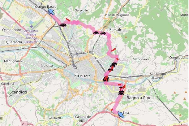 l Giro d'Italia torna a Firenze: ecco il percorso
