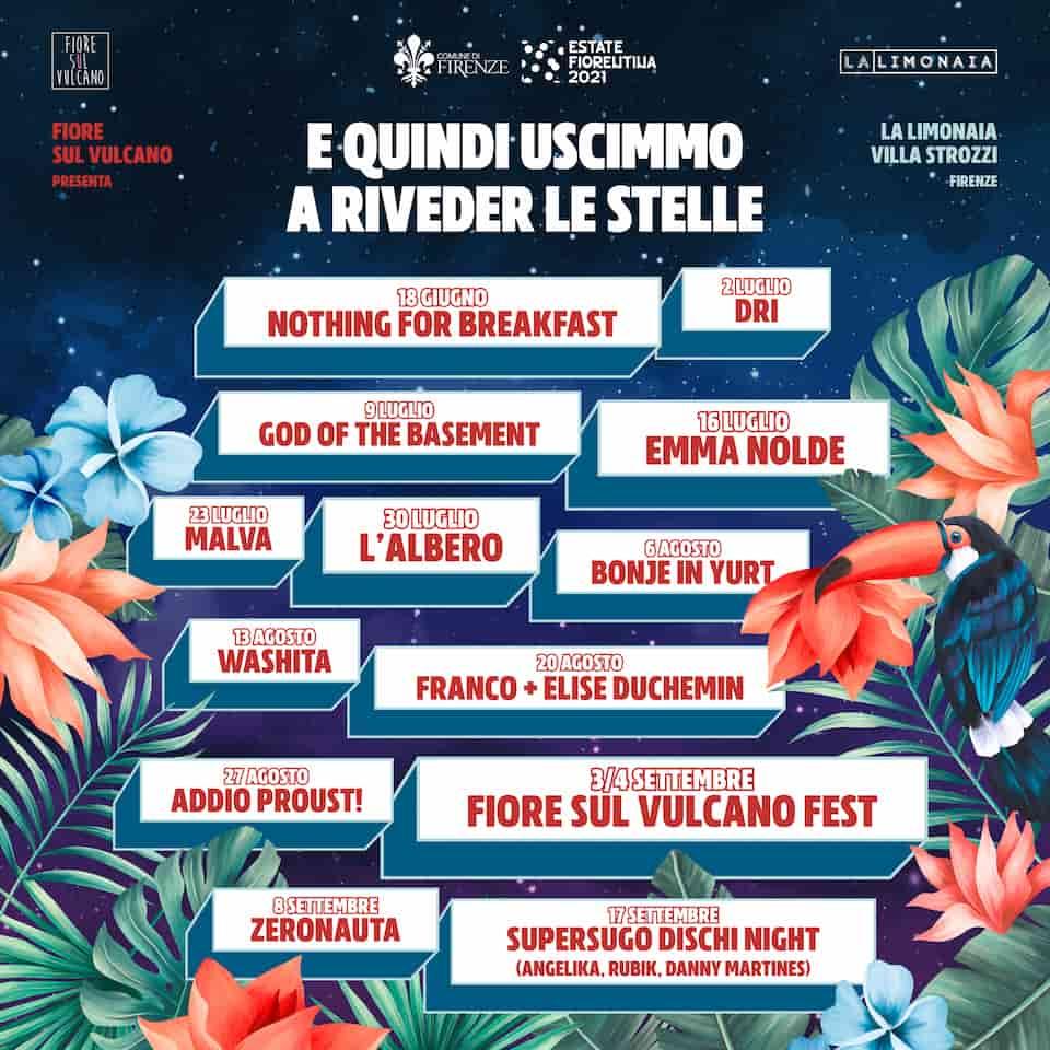Concerti limonaia Villa Strozzi Firenze 2021