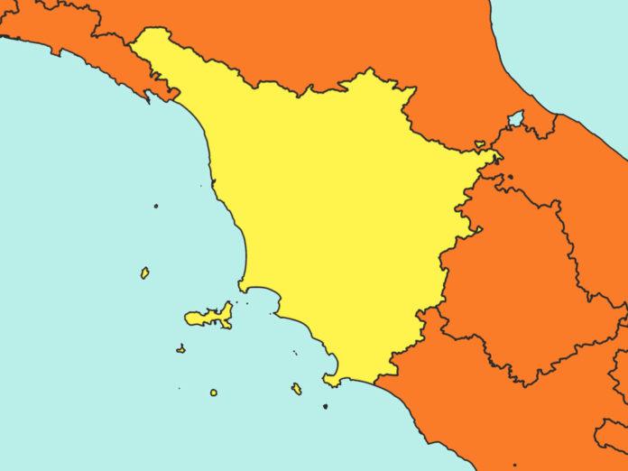 La Toscana zona gialla