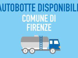 Firenze senza acqua autobotti Prato Pistoia
