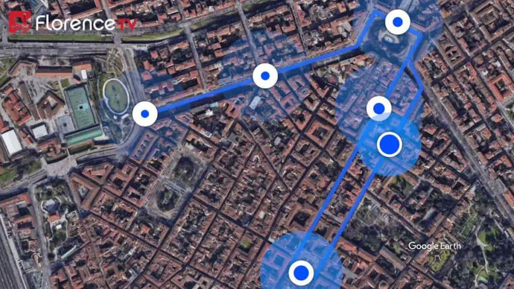 mappa fermate tramvia Firenze Fortezza Lavagnini libertà piazza San marco