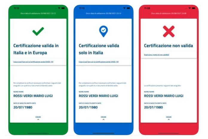 app per leggere green pass vedere valido verifica QR code