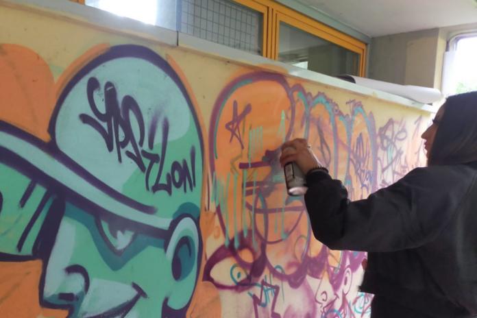 Laboratori rap street art Dante Bagno a Ripoli